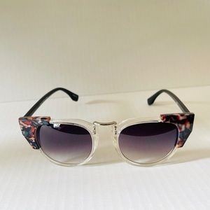 Clear Marble Edged Sunglasses